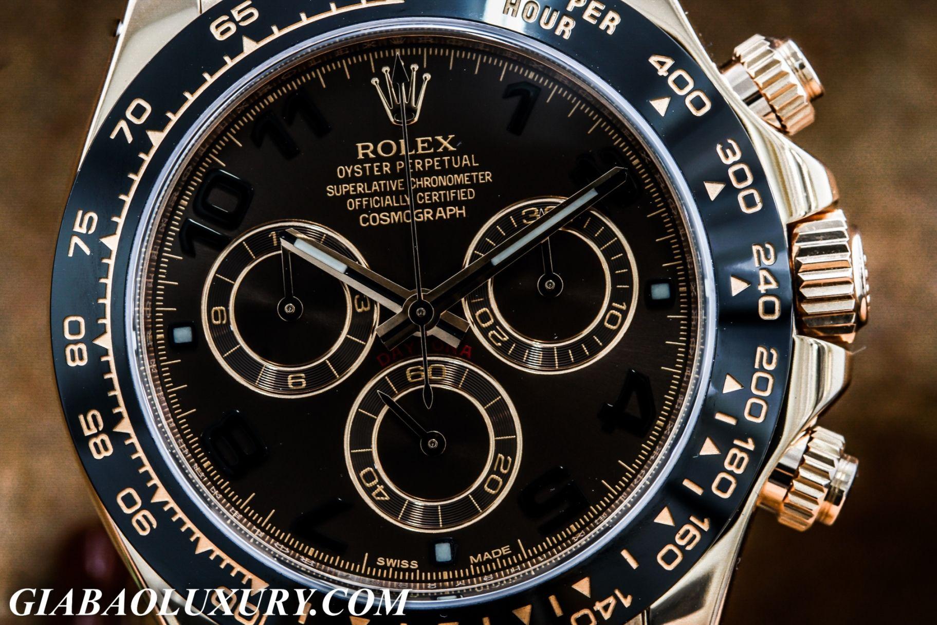 Mặt đồng hồ Rolex Cosmograph Daytona 116515