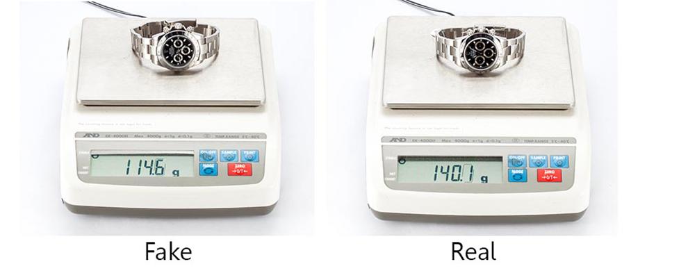 Đồng hồ Rolex thật có trọng lượng nặng hơn bởi được làm từ chất liệu tốt, công nghệ chế tạo độc quyền