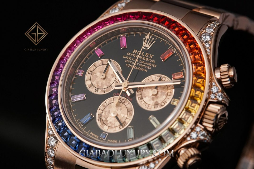 "Mặt trước đồng hồ Cosmograph Daytona ""Rainbow"" 116595RBOW"