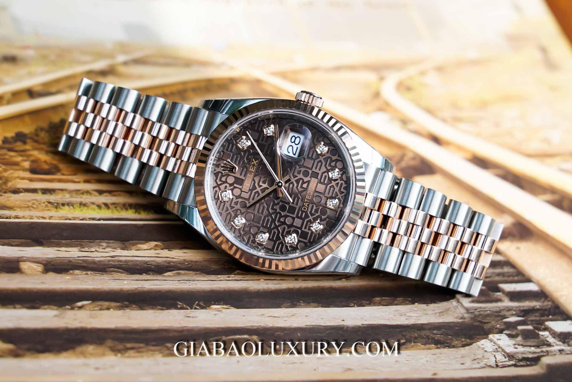 Đồng hồ Rolex Datejust 36 126231 Mặt Số Vi Tính Chocolate