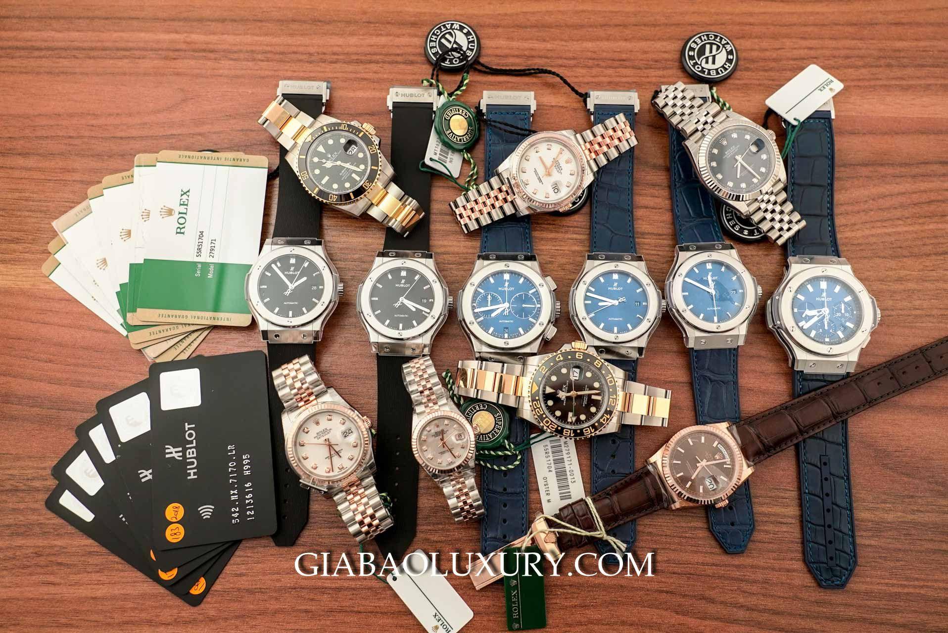 Gia Bảo Luxury là địa chỉ mua bán đồng hồ chính hãng các thương hiệu hàng đầu thế giới như Hublot, Omega, Patek Philippe, Rolex