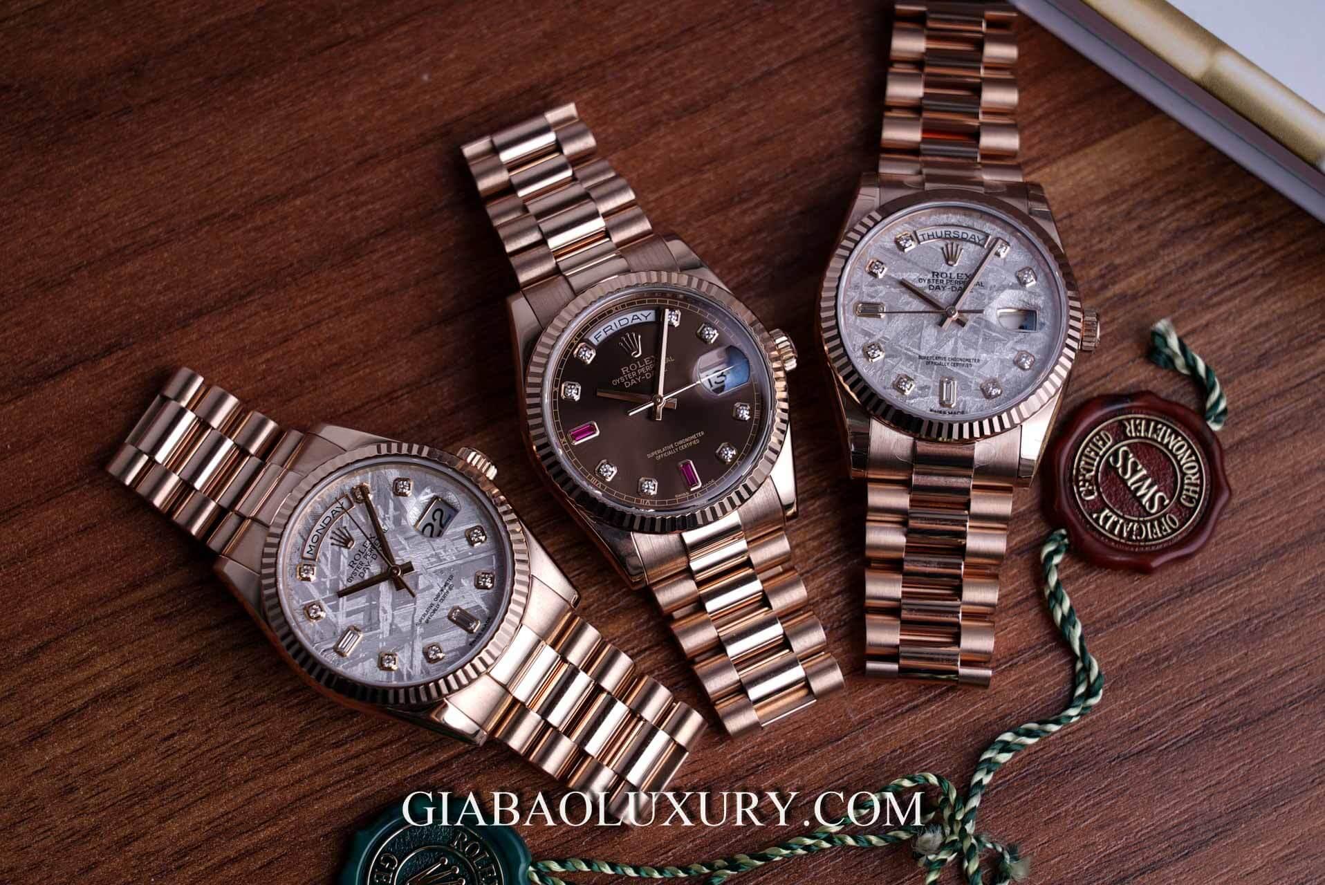 Gia Bảo Luxury thu mua đồng hồ Rolex Day-date chính hãng