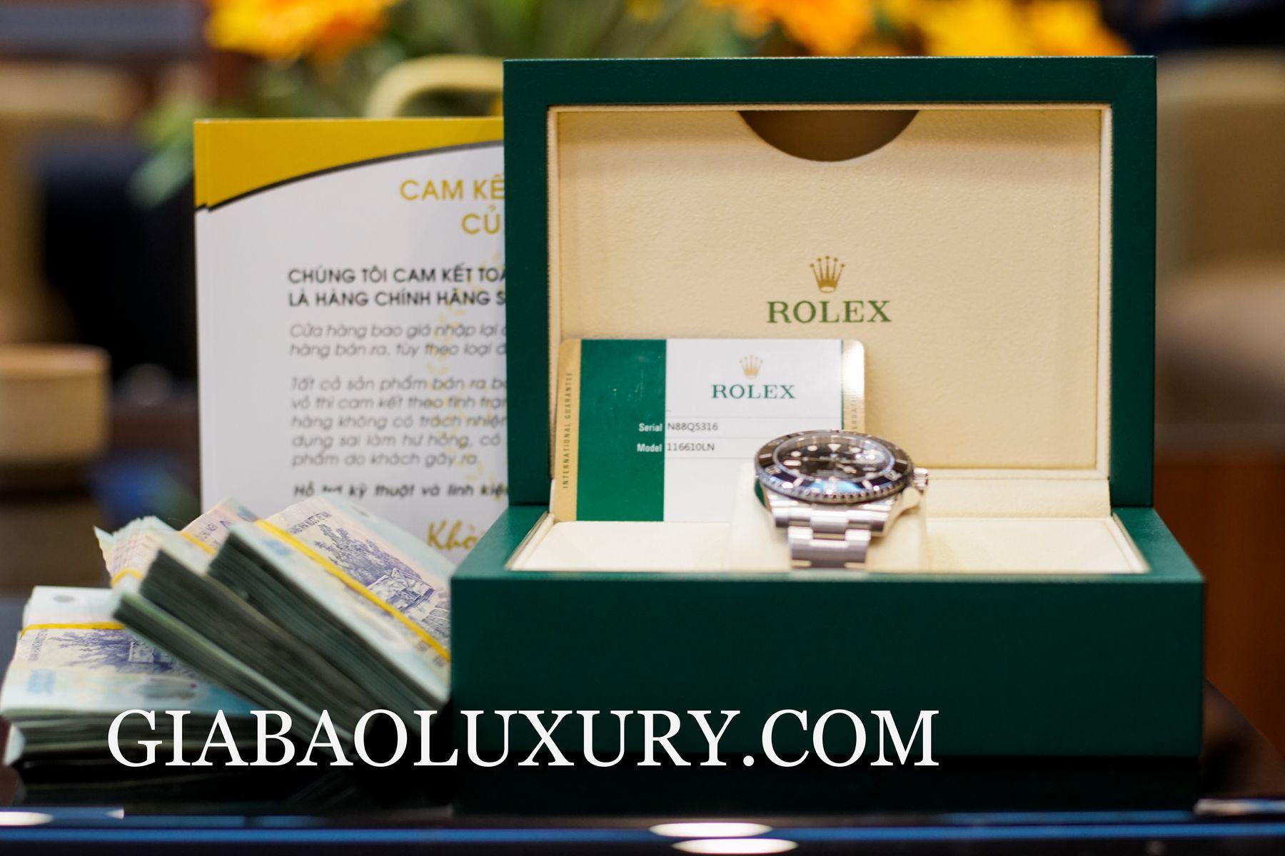 Gia Bảo Luxury thu mua đồng hồ Rolex Submariner chính hãng