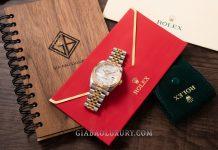 Thu mua đồng hồ Rolex Datejust 36 116233 Mặt Số Khảm Trai Trắng