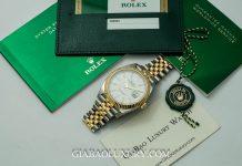 Đồng Hồ Rolex Datejust 41 126333 Mặt Số Trắng Cọc Dạ Quang