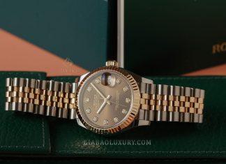 Đồng Hồ Rolex Datejust 31 278271 Mặt Số Chocolate Nạm Kim Cương