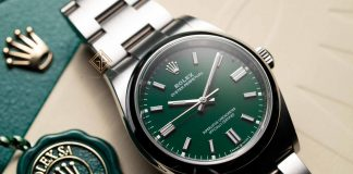 Đồng Hồ Rolex Oyster Perpetual 36 126000 Mặt Số Xanh
